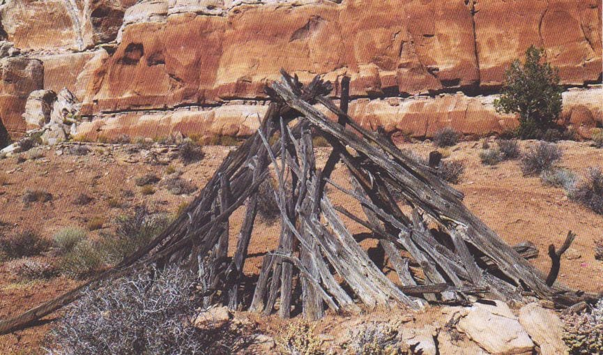 This 19th century Navajo hogan was destroyed in 2012 by campers who used the structure for firewood.